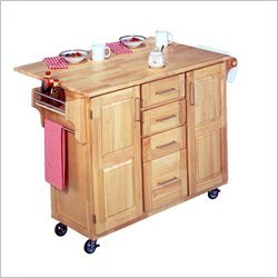Buy Low Price Home Styles 5089-95 Kitchen Center with Breakfast Bar, Natural Finish (5089-95)