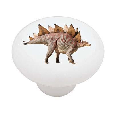 Stegosaurus Dinosaur Decorative High Gloss Ceramic Drawer Knob front-1033913