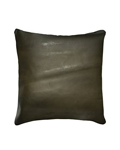 Sienna Leather Pillow, Chocolate