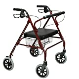 Drive Medical 10215BL-1 Heavy Duty Rollator Blue
