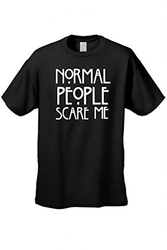 Men's/Unisex Normal People Scare Me Short Sleeve T-Shirt BLACK (Large)