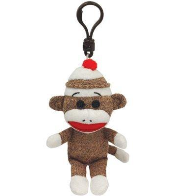Ty 7140953 - Ty Plüsch - Beanie Babies - Socks Clip - Sockenaffe braun, 8.5cm
