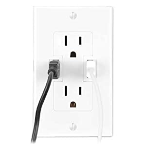 Wall-Outlet with two USB Charging Ports