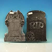 Set of 2 Asst. Halloween Tombstones, Props, Decorations and Accessories by HALLOWEEN