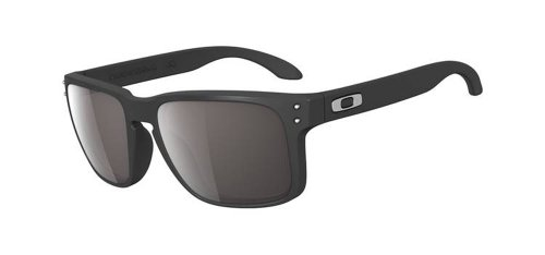 c7df2e52e84 Oakley Mens Holbrook Rectangular Sunglasses OO9102-01 Matte BlackWarm Grey  Lens
