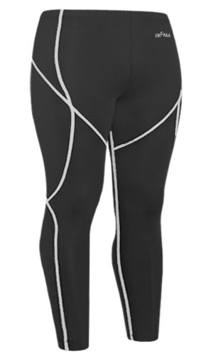 Emfraa Skin Tights Compression Leggings Running Baselayer Pants Men Women S ~ XXL