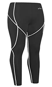 Emfraa Skin Tights Compression Leggings Running Baselayer Pants Men Women S