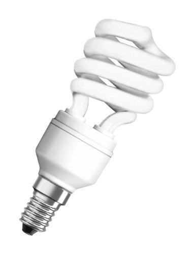 Osram 63164B1 Duluxstar Mini Twist E14 mini Energiesparlampe in gedrehter Form 11W/840, kaltweiß