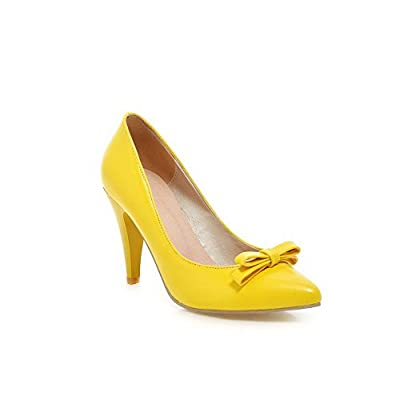 BalaMasa Ladies Slip-On High-Heels Solid Soft Material Pumps-Shoes