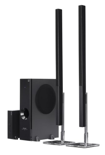 Sharp HTSL77 2.1 Channel Slim Sound Bar System with 4 Wireless Subwoofers
