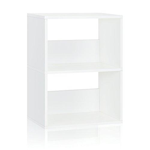 Way Basics Eco 2 Shelf Duplex Bookcase and Storage Shelf, White (made from sustainable non-toxic zBoard paperboard) Basic 3 Shelf Bookcase
