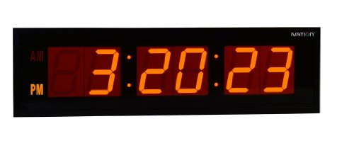 DBTech Huge 36-Inch Oversized Digital LED Clock, Orange