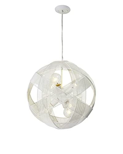 Varaluz At-Mesh-Sphere 6-Light Pendant, Pearl