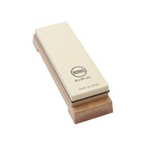 King Two Sided Sharpening Stone with Base Via Amazon