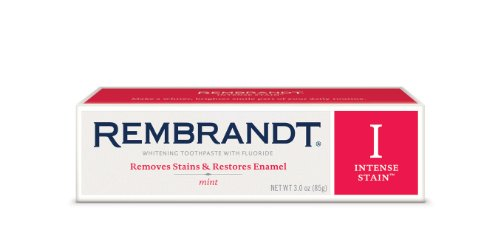 Rembrandt Toothpaste, Intense Stain, Mint Flavor, 3-Ounce Tube