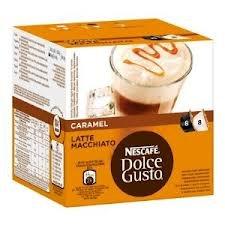 Find Nescafe Dolce Gusto Caramel Latte Macchiato x 4 packs (64 pods, 32 servings) by Nescafe
