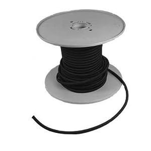Gummileine in schwarz Ø 4 mm, Preis pro Meter
