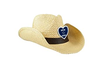 NFL Dallas Cowboys Women's Crystal Cowgirl Hat, Natural