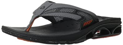 Reef Men's X-S-1 Sandal,Black/Orange,7 M US