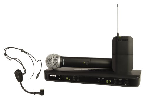 Shure Blx1288/Pg30 Wireless Combo System With Pg30 Headworn And Pg58 Handheld Microphones, M15