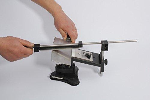 Tinypony® Upgraded Version Fixed-Angle Knife Sharpener Professional Kitchen Knife Sharpener Kits System 4 Sharpening Stones 120#, 320#, 600#, 1500#