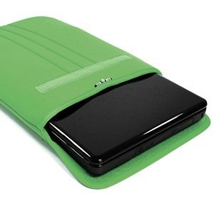 Cosmos Green Neoprene/Cotton 15 15.6 inch Laptop notebook computer receptacle/bag/sleeve for Dell HP Acer Asus Sony IBM Gateway Toshiba samsung + Cosmos guy tie