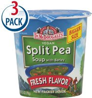 Dr. McDougall's Big Cup Soup Split Pea with Barley -- 2.5 oz Each / Pack of 3