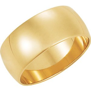 Genuine IceCarats Designer Jewelry Gift 10K Yellow Gold Wedding Band Ring Ring. 08.00 Mm Light Half Round Band In 10K Yellowgold Size 7.5