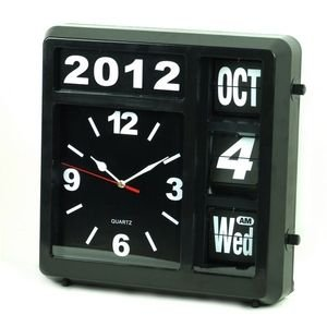 Pendule quartz horloge mural avec calendrier perpetuel - Horloge murale avec calendrier ...