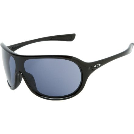 Oakley Women's Immerse OO9131-08 Round Sunglasses,Polished Black Frame/Grey Lens,One Size