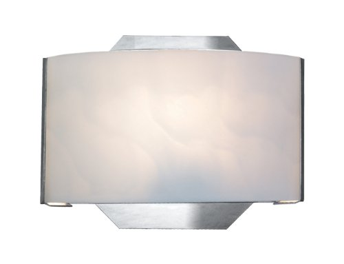 Eurofase Sc-1Dak-05 Dakota 1-Light Wall Sconce, Chrome/White