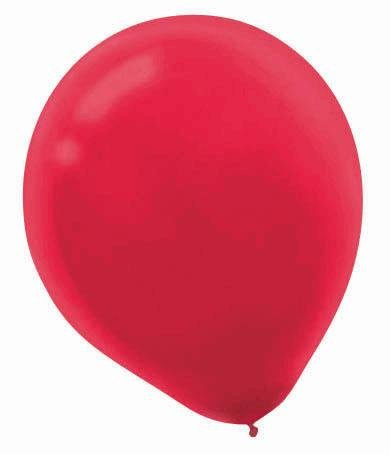 "Amscan Bulk Solid Color Latex Balloons, 12"", Red"