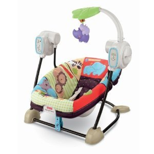 Fisher-Price Luv U Zoo Spacesaver Swing And Seat With Mini Tool Box (Fs)