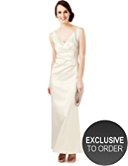 M&S Collection V-Neck Pleated Maxi Dress