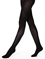 100 Denier Thermal Opaque Tights with Wool
