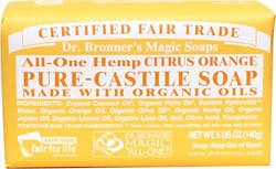 Dr. Bronner's Organic Pure Castile Citrus Orange Soap - 2 Bars