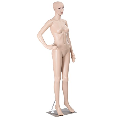 NEW Female Mannequin Plastic Realistic Display Head Turns Dress Form w/ Base (Kids Manikin Head compare prices)