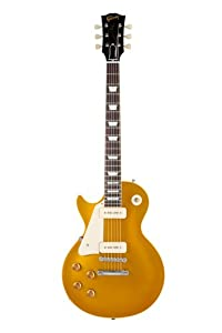 Gibson Custom Shop LPR63LHVOAGNH1 1956 Les Paul Goldtop VOS-2013 Left Handed Electric Guitar, Antique Gold