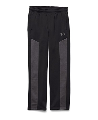 Under Armour Youth Boys Fleece Storm Pant, Black/Carbon Heather/Graphite, Medium