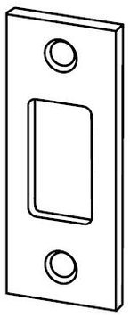 """1 1/8"""" X 2 3/4"""" Replacement Strike Plate With Square Corner, Polished Brass front-936841"""