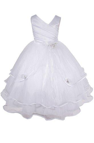 AMJ платья Inc девочек белый цветок девушке…