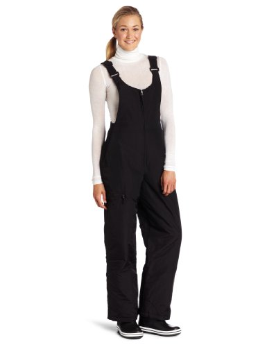 White Sierra Women's Insulated Bib Snow Pant (Black, Medium)