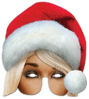 Mrs Claus Character Face Card Mask, Mask-arade, Impersonation/Fancy Dress
