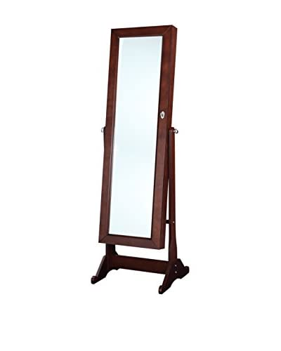 Linon Home Décor Ruby Cheval Mirror, Cherry