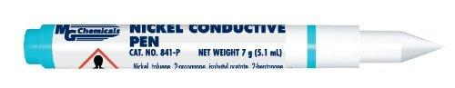MG Chemicals 841-P Nickel Conductive Pen Resistivity 1 Ohm, (Replaced with 841AR-P Nickel Conductive Pen - Improved Conductivity) (Conductive Paint Pen compare prices)