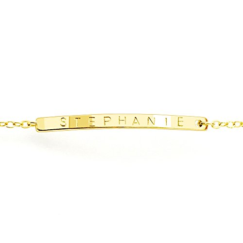Customized Dainty Name Bracelet (Gold-Plated) (Customized Friendship Bracelets compare prices)