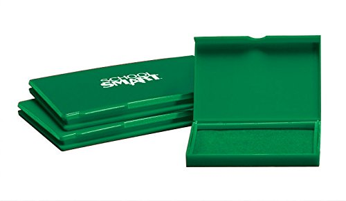 School Smart Pre-Inked Stamp Pad - Size 1 - Green