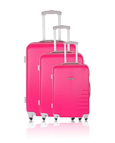 Travel ONE 3er Set Hartschalen Trolley Batley pink