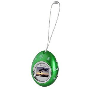 1.1″ Royal PF11 Holiday Ornament USB Digital Photo Frame Keychain (Green)