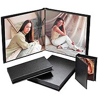 Flora Superior Series, Self Adhesive Album, Chocolate Cover with Black Pages, 10 Page Capacity Holds 20 10